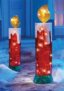 lighted candle outdoor decoration christmasshack