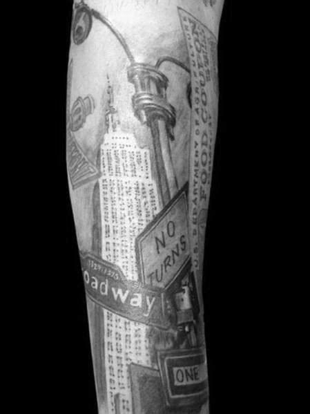 empire state building tattoo ideas  men skyscraper