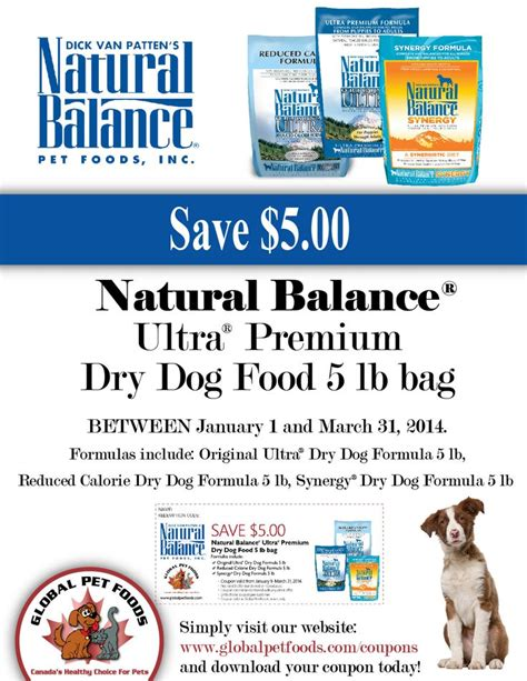Natural Balance Dog Food Coupons >> Natural Balance Dry Dog Food Printable Coupons