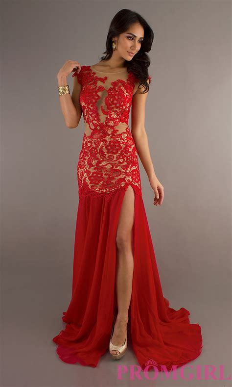 Sexy Evening Gown Cassandra Stone Prom Red Long Dress- PromGirl