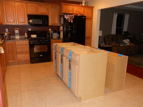 building a kitchen island with cabinets my adventures in treasure diy kitchen island project