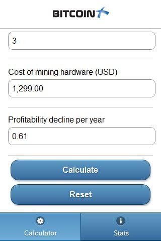 bitcoin power calculator bitcoin mining profitability calculator android app bitcoinx