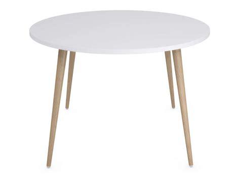 table ronde cuisine conforama table ronde 120 cm soren coloris blanc ch 234 ne clair vente