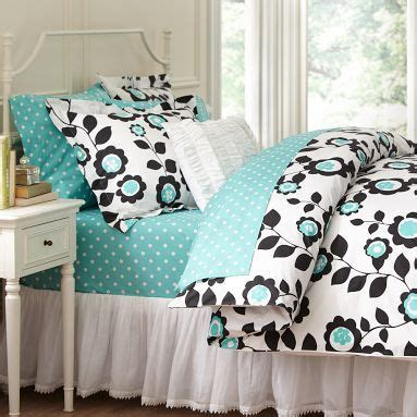 Black And Aqua Bedding by Black Turquoise Floral Bedding Roomspiration Organic