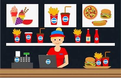 Fast Cashier Clipart Advertising Vector Display Vectors