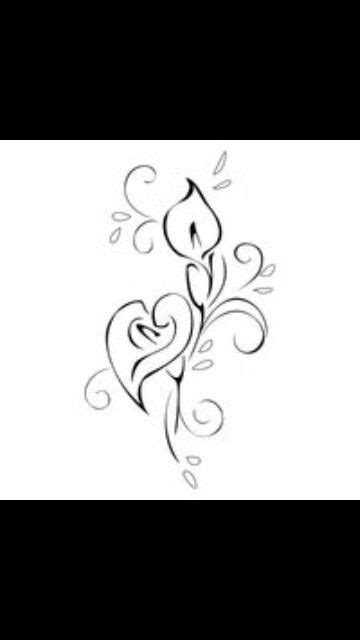 Drawing of calla lilly | possible first tattoo idea | Calla lily tattoos, Lily tattoo design