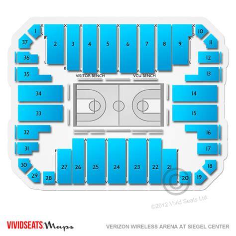 Siegel center seating chart