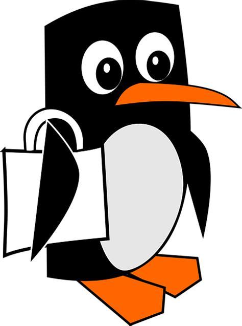 gratis vektorgrafik pingvin clipart dyr trukket