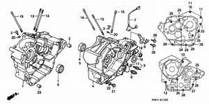 Crankcase For 1997 Honda Nv400 Nv400  Shadow