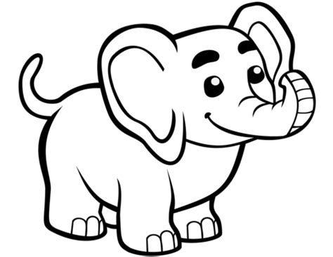 cute baby elephant coloring page  printable coloring