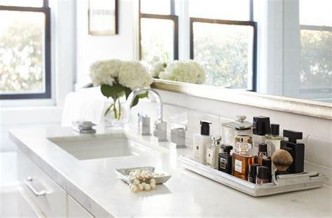 chic  easy ways  revamp  bathroom counter