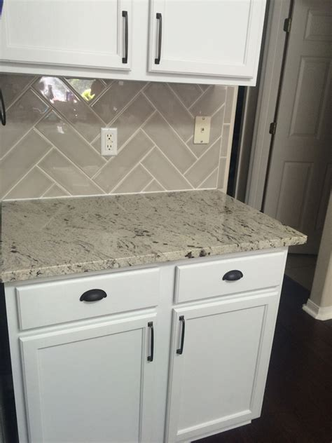 Antique White Granite Countertops Installation Kitchen