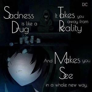 Anime depressed... Anime Boy Quotes