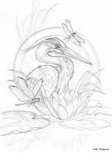Coloring Drawing Sketches Bird Vk Drawings Adult Dragonfly Hobby Bergsma Antistress Pencil Sketch Paintings Press Lobby источник Kleurplaat Inspiratie Kunst sketch template
