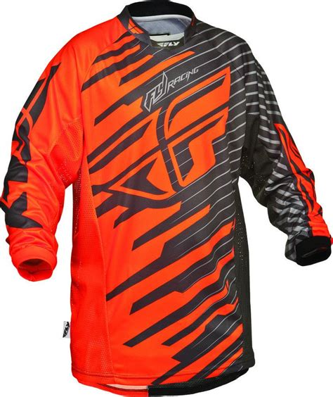 fly motocross jersey fly racing kinetic shock 2014 motocross mx jersey mens ebay
