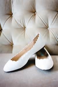 White Flat Ballet Wedding Shoes