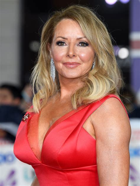 Carol Vorderman Shows Off Phenomenal Figure In Skin Tight Leather Catsuit