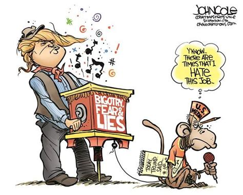 Trump's Monkey, John Cole,the Scranton Times-tribune