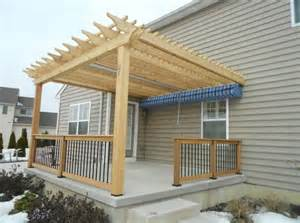 Adding A Pergola To An Existing Deck by Deck With Pergolas Deck Pergolas In Lancaster Amp Chester