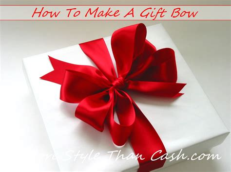 how to make a bow for a present make a gift bow