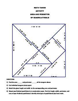 area  perimeter  rectangles math tango math