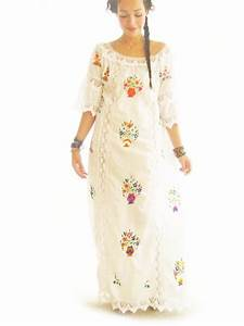 handmade mexican embroidered dresses and vintage treasures With plus size mexican wedding dresses