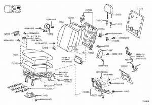 2011 Toyota Sienna Folding Seat Latch Release Handle Bezel  Rear