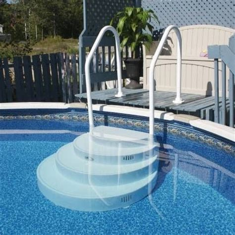 Above Ground Swimming Pool Steps Deck by Above Ground Pool Stairs Above Ground Pools