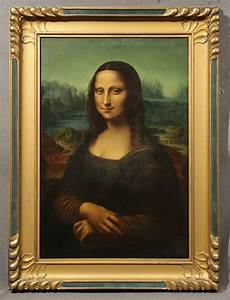 "Stunning 19th Century ""Mona Lisa"" Signed Oil Painting ..."