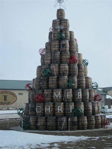 wine barrel christmas tree it s all about wine pinterest