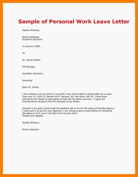 message absence bureau leave of absence letter template images