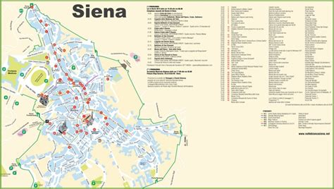 siena tourist attractions map
