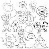 Circus Coloring Cirque Google Boek Kleurend Elements Livre Avec Coloration Animal Coloriage Circo Clown Dieren Cartoon Depositphotos Doodle Animaux Bambini sketch template
