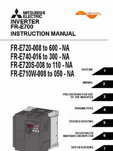 Mitsubishi E700 Variable Frequency Drive  Vfd  Instruction