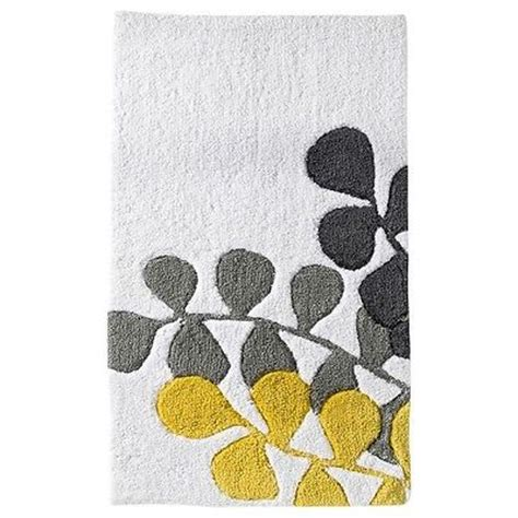 yellow gray bathroom rugs room essentials vine bath rug gray yellow 20x34 quot