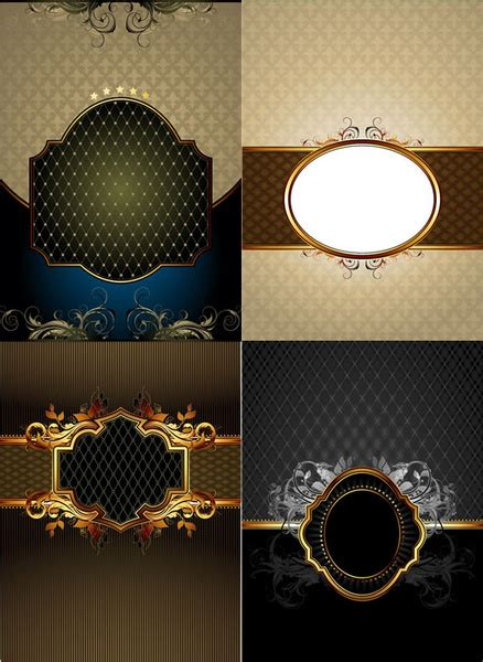 photoshop shapes frames  vector