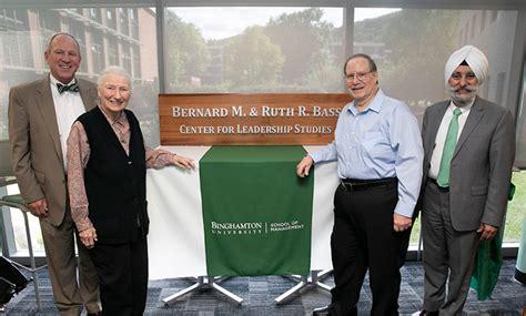 center  leadership studies named  honor  bernard