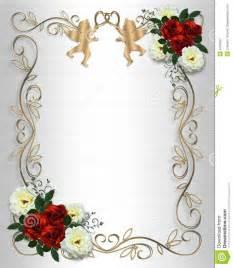 cadre mariage mariage de satin de roses d 39 invitation de cadre photographie stock libre de droits image