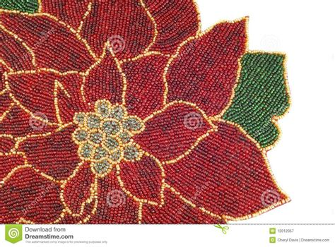 beaded poinsettia background royalty free stock photography image 12012057