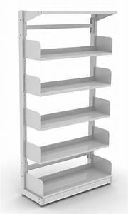 Single sided library shelving DVA Fabrications