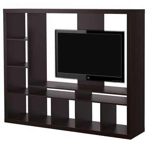 ikea tv display unit expedit tv storage unit black brown ikea for separating bedroom livingroom home ideas