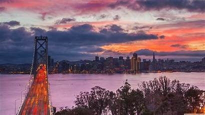 San Francisco Sunset Bridge Sunsets Island Treasure