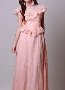 Gunne Sax Size Chart 70s Vintage Pink Lace Ruffled Dress By Nullify Anew