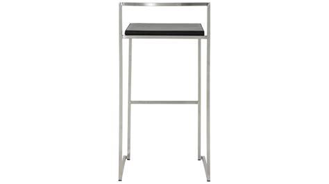 chaise de bar design en inox bross 233 et simili cuir yavor