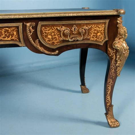 bureau style vintage antique bureau plat writing desk louis xv style at