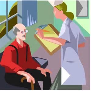 Nurse Teaching Patient Cartoon