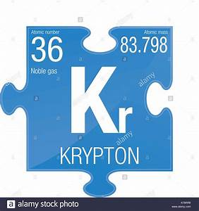 Krypton Symbol  Element Number 36 Of The Periodic Table Of