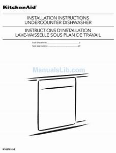 Kitchenaid Kdtm354dss0 Installation Instructions Manual