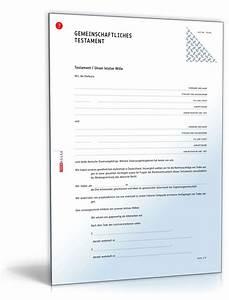 Vorsorgevollmacht Ohne Notar Gültig : gemeinschaftliches testament muster zum download ~ Orissabook.com Haus und Dekorationen