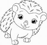 Hedgehog Coloring Pages Cute Porcupines Hedgehogs Cartoon Template Baby Outline Brett Jan Drawing Realistic Printable Sheet Coloringbay Getdrawings Getcoloringpages sketch template
